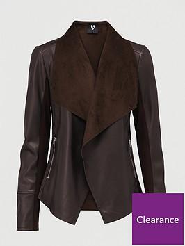 v-by-very-waterfall-pu-jacket-dark-chocolate