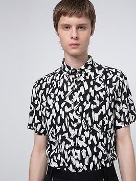 hugo-ekilio-print-short-sleeve-shirt