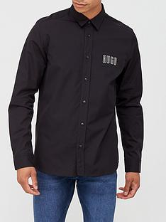 hugo-emero-small-logo-shirt-black