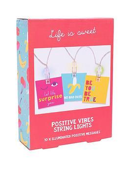 Fizz Positive Vibes String Lights