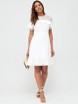 V by Very V By Very Round Neck Lace Skater Dress Picture
