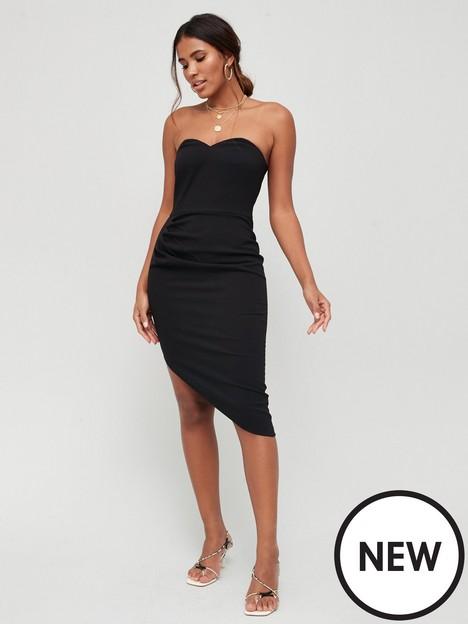 v-by-very-bandeau-belted-tux-dress-black