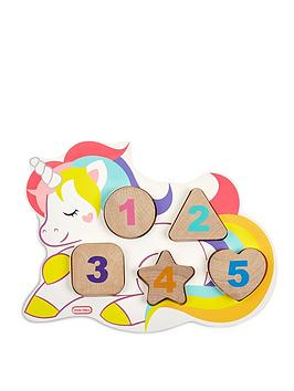 Little Tikes Little Tikes Wooden Critters Number Puzzle - Unicorn Picture