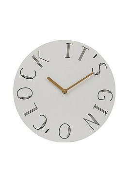 Premier Housewares Premier Housewares Mimo Gin O Clock Wall Clock Picture