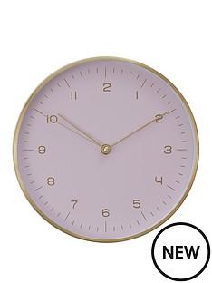 premier-housewares-elko-goldpink-wall-clock