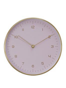 Premier Housewares Premier Housewares Elko Gold/Pink Wall Clock Picture