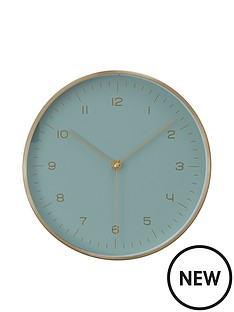 premier-housewares-elko-goldmint-wall-clock