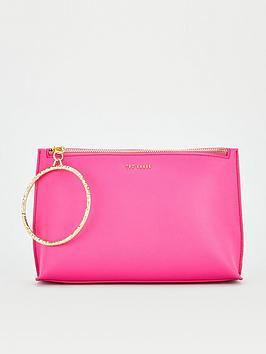 ted-baker-textured-ring-bracelet-clutch-pink