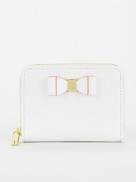 ted-baker-core-bow-zip-around-mini-purse-ivory