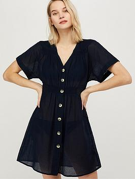 Monsoon Monsoon Louisa Kaftan Dress - Navy Picture