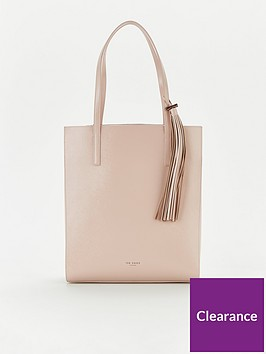 ted-baker-patent-tassel-north-south-shopper-nude