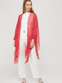 Monsoon Monsoon Dalia Ditsy Floral Cover Up - Red Picture