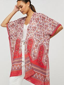 Monsoon Monsoon Becca Border Paisley Recycled Poly Cover Up - Multi Picture