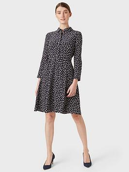 Hobbs Hobbs Emberley Dress - Navy Picture