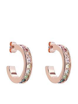 ted-baker-reannanbspsmall-crystal-hoop-earrings-rose-gold