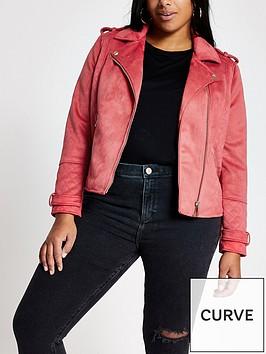 ri-plus-suedette-biker-jacket-pink