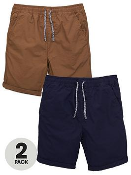 V by Very V By Very Boys 2 Pack Ripstop Shorts - Multi Picture