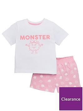 v-by-very-girls-fathers-daynbspmonster-short-pjnbspset-pink