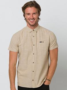animal-fleck-short-sleeve-shirt-beige