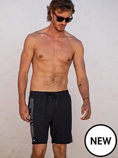 animal-elasticated-swim-board-shorts-black