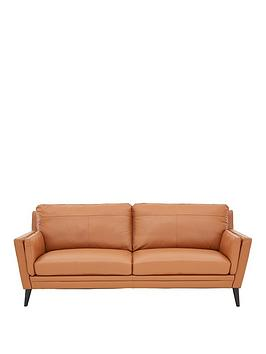 Very Lincoln Leather 3 Seater Sofa Picture