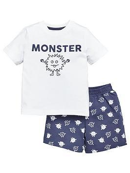 V by Very V By Very Boys Father'S Day Monster Short Pyjama Set - Navy Picture