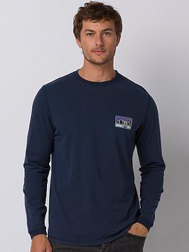 Animal Animal Long Sleeve Nold Graphic T-Shirt - Indigo Blue Picture