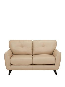 Product photograph showing Boston Leather 2 Seater Sofa