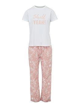 v-by-very-short-sleeve-pyjama-set-shell-print
