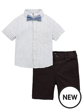 v-by-very-boys-3-piecenbspstripe-shirt-bow-tie-and-shorts-set-multi