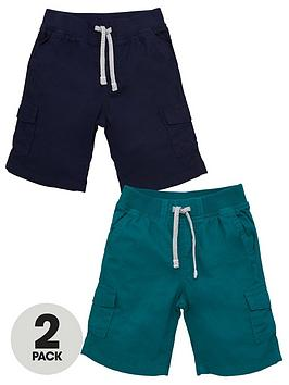 V by Very V By Very Boys 2 Pack Cargo Shorts - Multi Picture