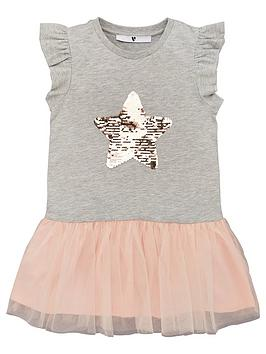 V by Very V By Very Girls Tutu 2-In-1 Dress - Grey/Pink Picture