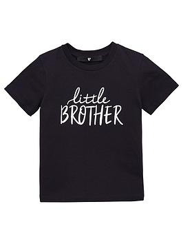V by Very V By Very Boys Little Brother Short Sleeve T-Shirt - Charcoal Picture
