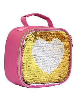Navigate- My Little Lunch Heart Sequin Lunch Bag