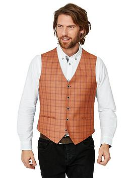 Joe Browns   Charming Check Waistcoat - Red
