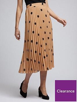 dorothy-perkins-spot-pleat-midi-skirt-camelnbsp