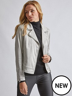 dorothy-perkins-suedette-biker-jacket