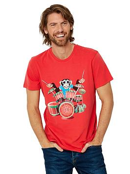 Joe Browns Joe Browns Island Drums Short Sleeve T-Shirt - Red Picture