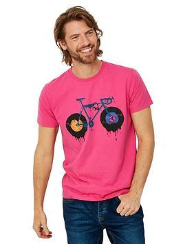 Joe Browns Joe Browns Dripping Bike Short Sleeve T-Shirt - Pink Picture