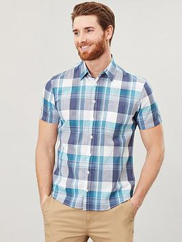 Joules Joules Short Sleeve Classic Fit Check Shirt - Green Check Picture