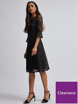 dorothy-perkins-petite-tilly-fit-and-flare-dress-ndash-black