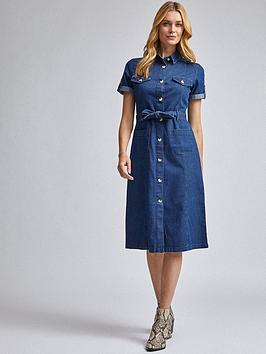 Dorothy Perkins Dorothy Perkins Denim Shirt Dress &Ndash; Blue Picture