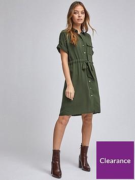 dorothy-perkins-petite-utility-shirt-dress-ndash-khaki
