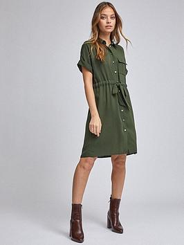 Dorothy Perkins Dorothy Perkins Petite Utility Shirt Dress &Ndash; Khaki Picture