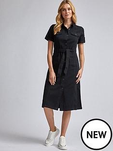 dorothy-perkins-denim-shirt-dress-ndash-black