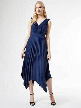 Dorothy Perkins Dorothy Perkins Dorothy Perkins Luxe Pleat Trim Midi Dress  ... Picture