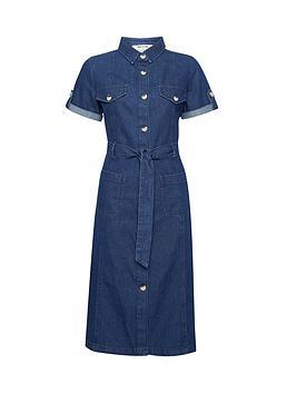 Dorothy Perkins Dorothy Perkins Petite Indigo Denim Shirt Dress - Blue Picture
