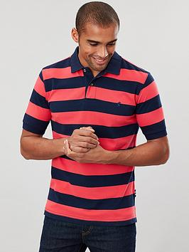 Joules Joules Striped Classic Polo Shirt - Navy/Pink Picture