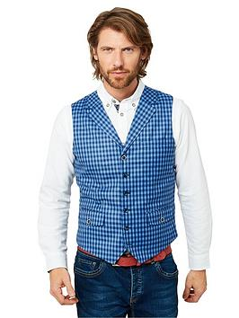 Joe Browns   In The Know Waistcoat - Blue