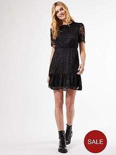 dorothy-perkins-lace-smock-dress-black